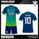 Desain Baju Futsal – The Blues Abstract