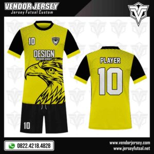 Desain Jersey Kaos Futsal Motif Elang