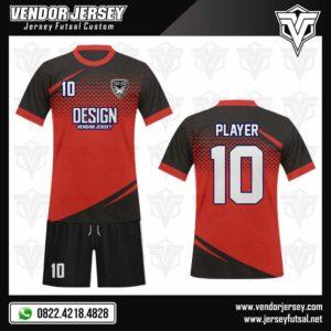 Desain Kostum Futsal – Fantastic Red