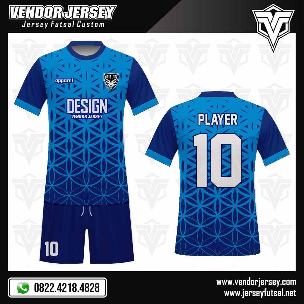 Desain Baju Futsal Bellezza warna biru