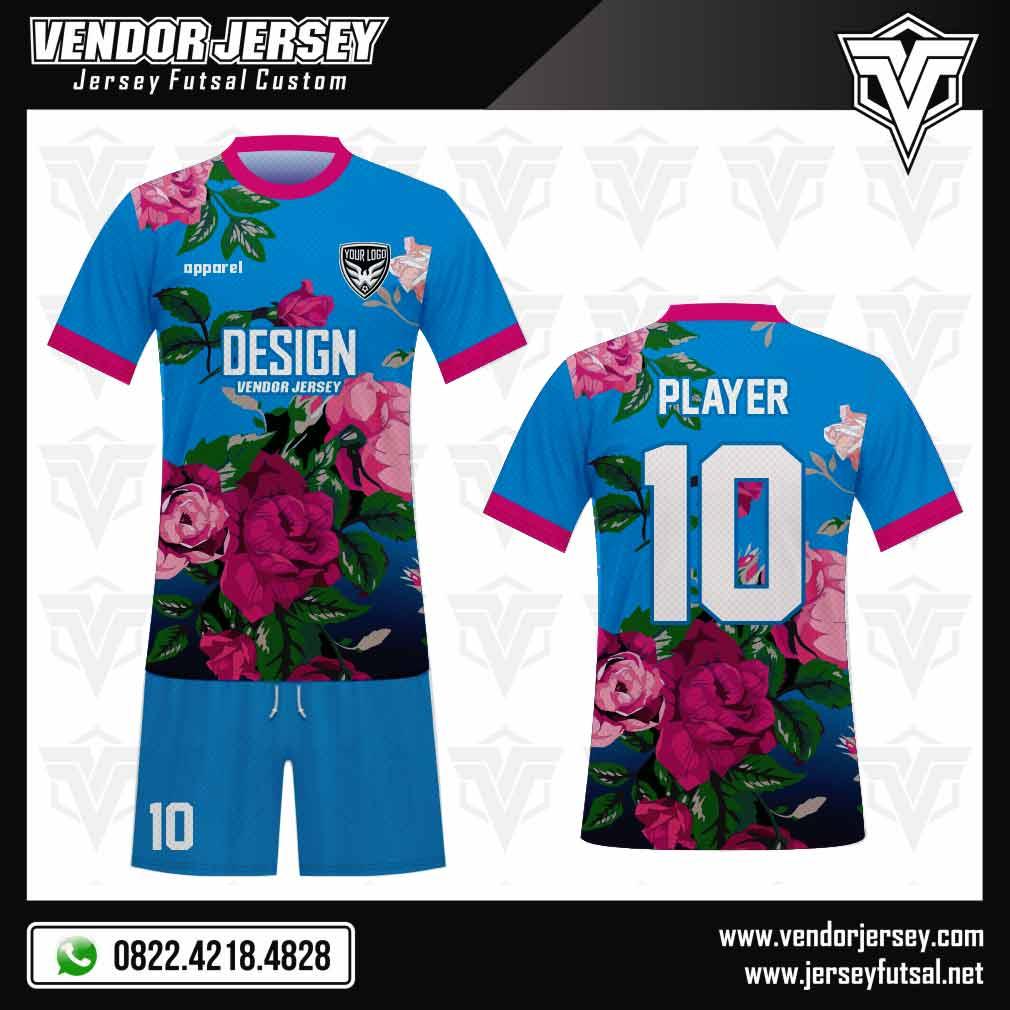 Desain Baju Futsal Flower - Gambar Bunga