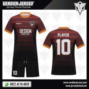 Desain Jersey Futsal Marunda- Warna Merah Marun