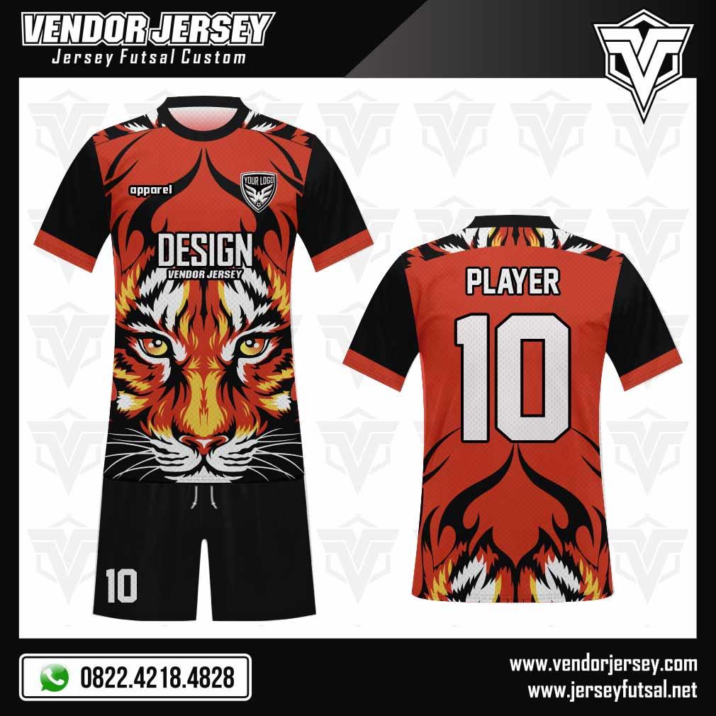 Desain Jersey Futsal Tiger - Gambar Macan