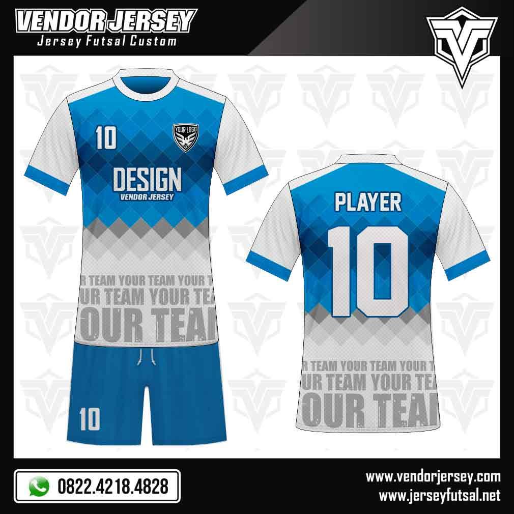 Desain Kaos Futsal Depan Belakang Terbaru kombinasi warna