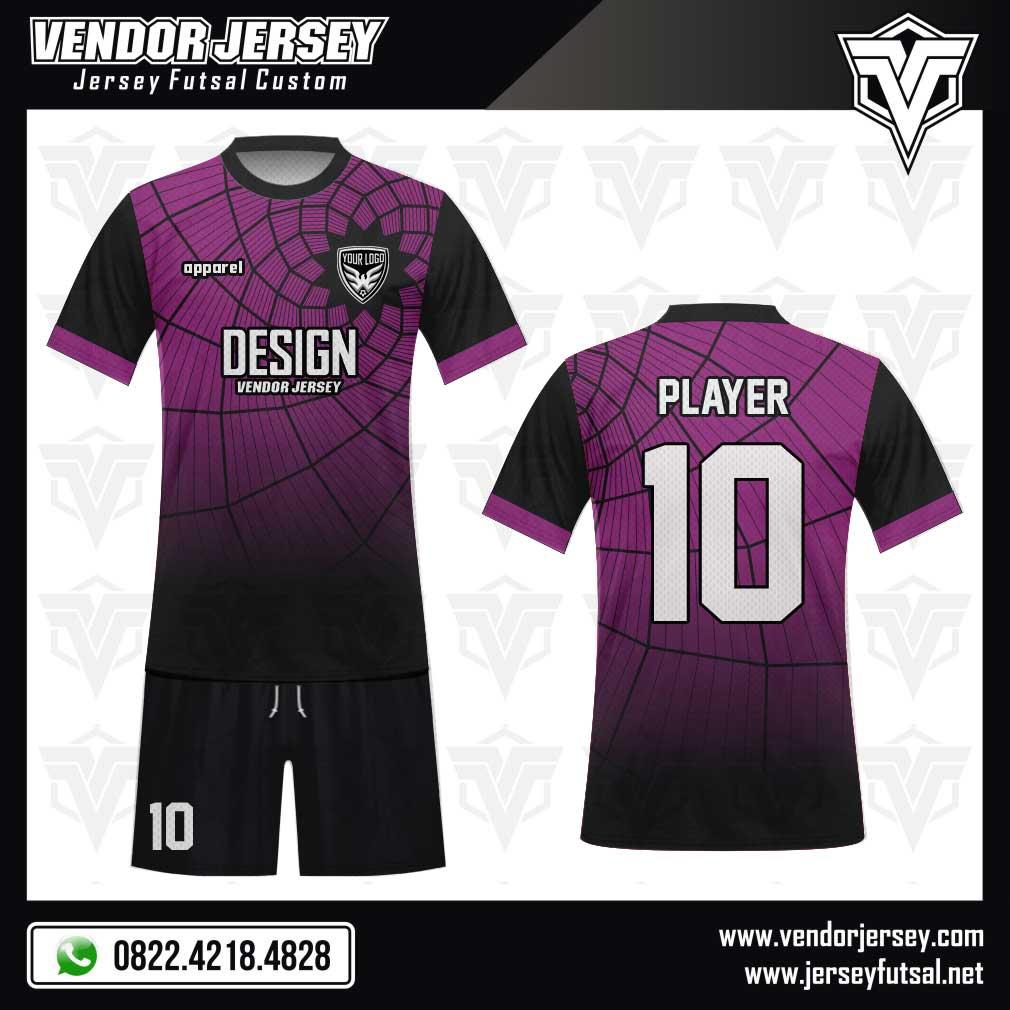 Desain Kaos Futsal La Maggica warna ungu