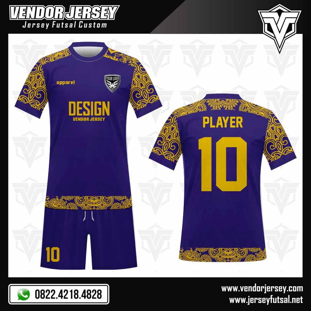 Desain Kaos Futsal Motif Batik Di Lengan | Vendor Jersey