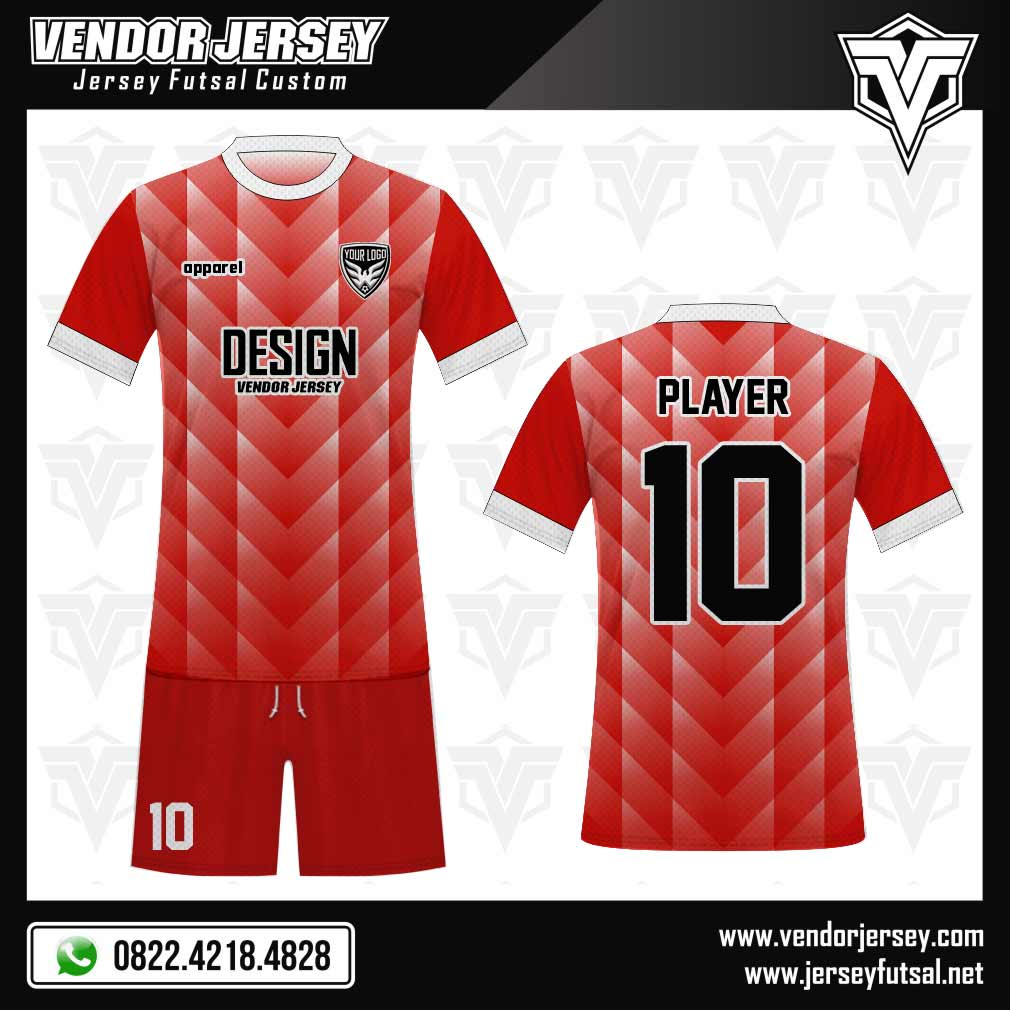 Desain Kaos Futsal Samehada merah
