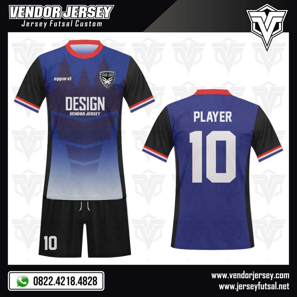 Desain Kostum Bola Futsal Forestoblu