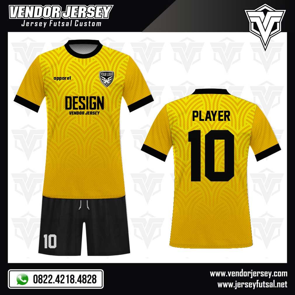 Desain Kostum Futsal - Branchline warna kuning