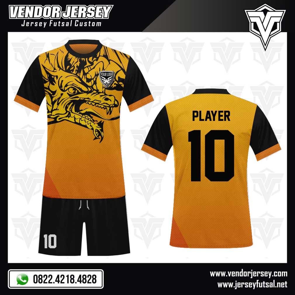 Desain Baju Futsal The Dragon - Motif Naga | Vendor Jersey