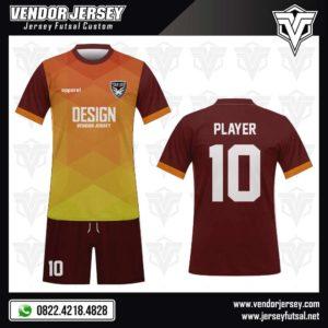 Desain Jersey Futsal Light Maroon