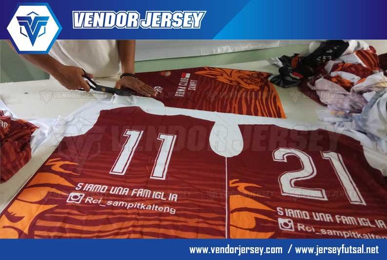 Jasa Buat Kostum Futsal Printing gradasi warna