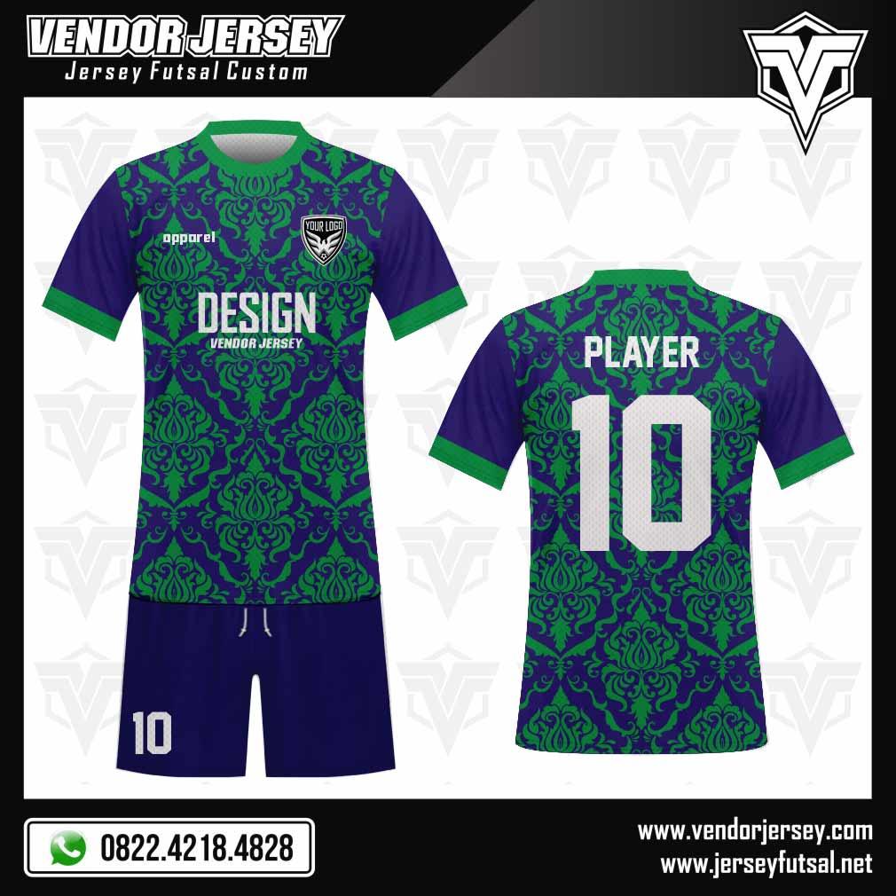 Desain Kaos Futsal The Royal biru hijau
