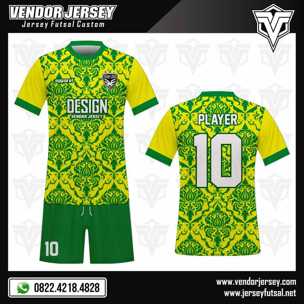 Desain Kaos Futsal The Royal kuning hijau