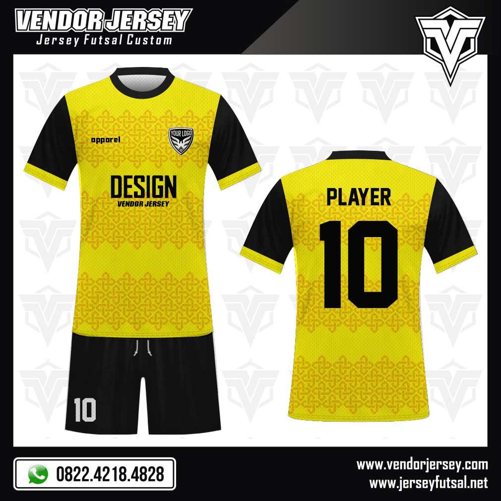 Desain Kostum Futsal Yelloclassic warna kuning