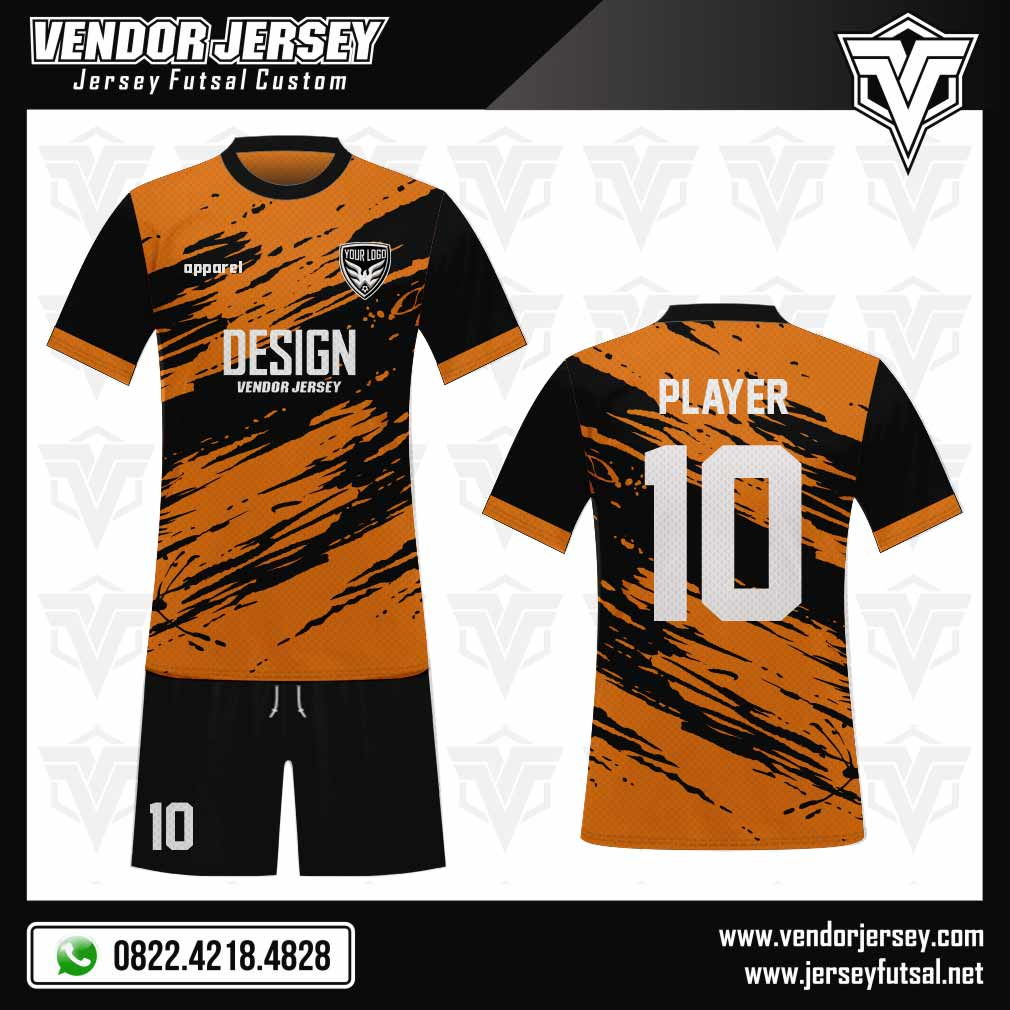 24 Desain Baju Bola Full Print Diagonalstreet Warna Oranye Hitam