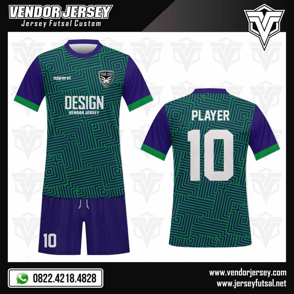 112 desain seragam futsal biru hijau