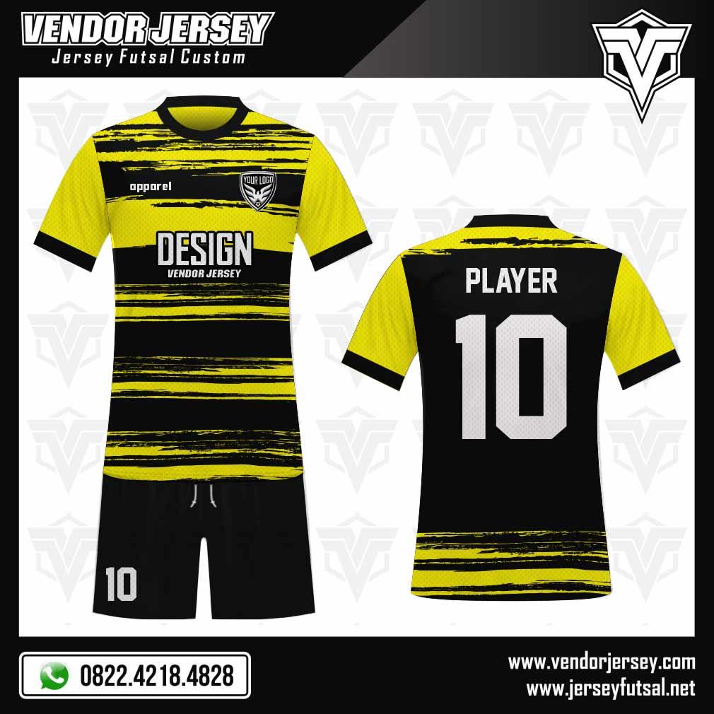 23 Desain Baju Bola Full Print Yelloblek Kuning Hitam