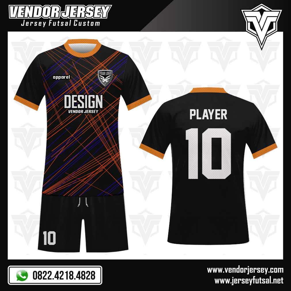 Desain Jersey Bola Full Print Blackstreet Hitam Yang Keren