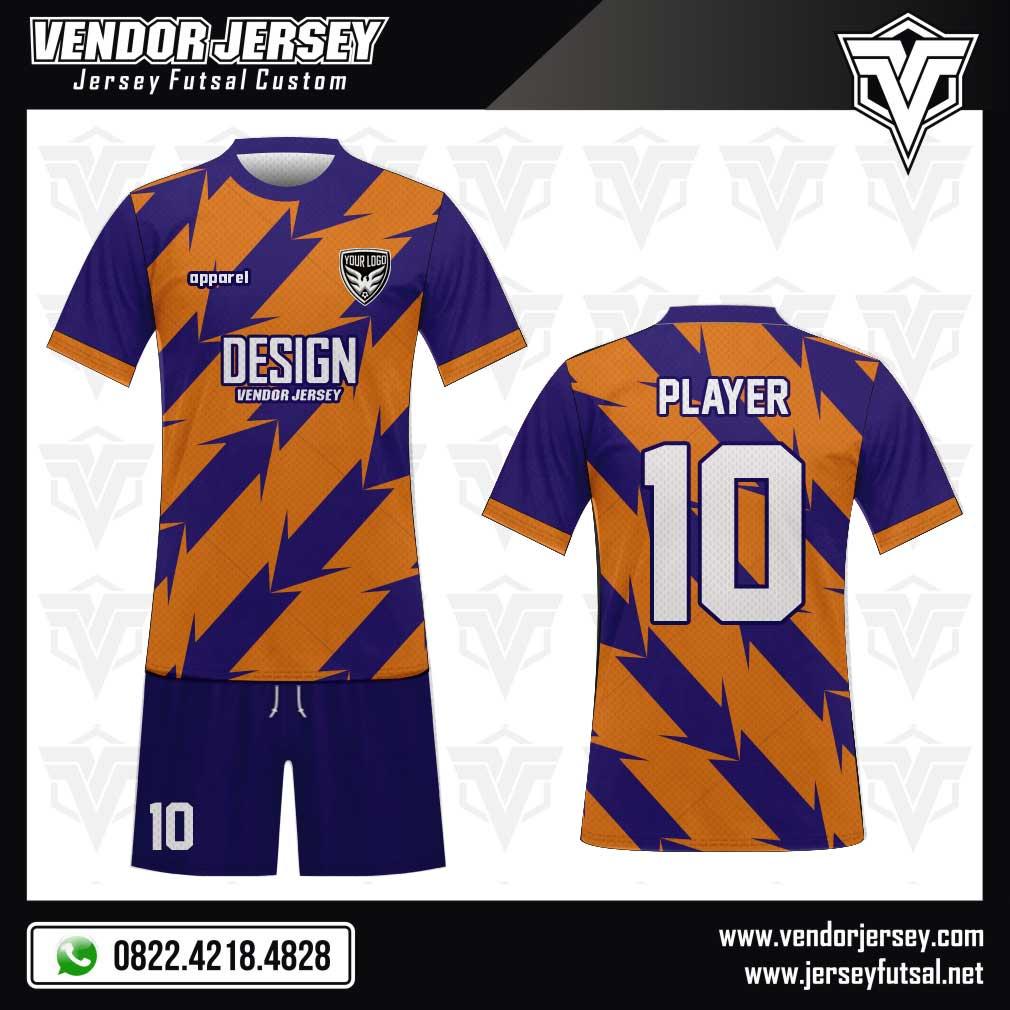 42. Desain Kaos Bola Diagonalrow Tampil Oke biru orange