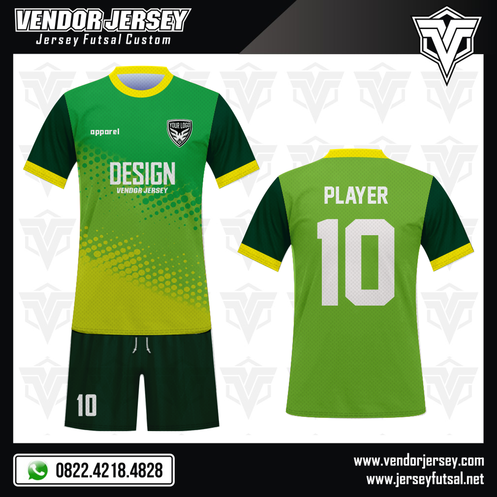 Desain Seragam Bola Futsal Gialloverde Si Hijau Kuning