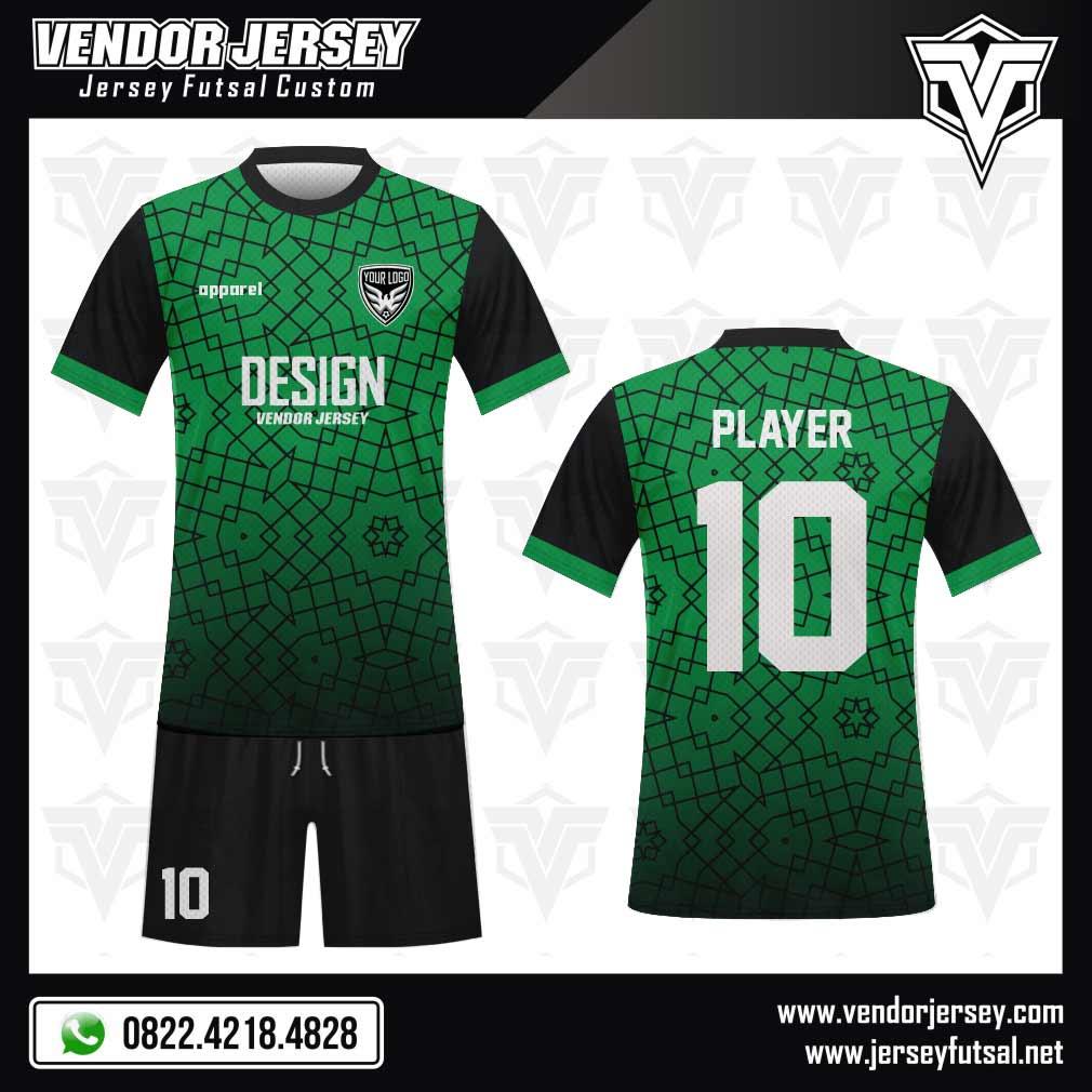 Desain Kaos Futsal Domline yang Artistik hijau