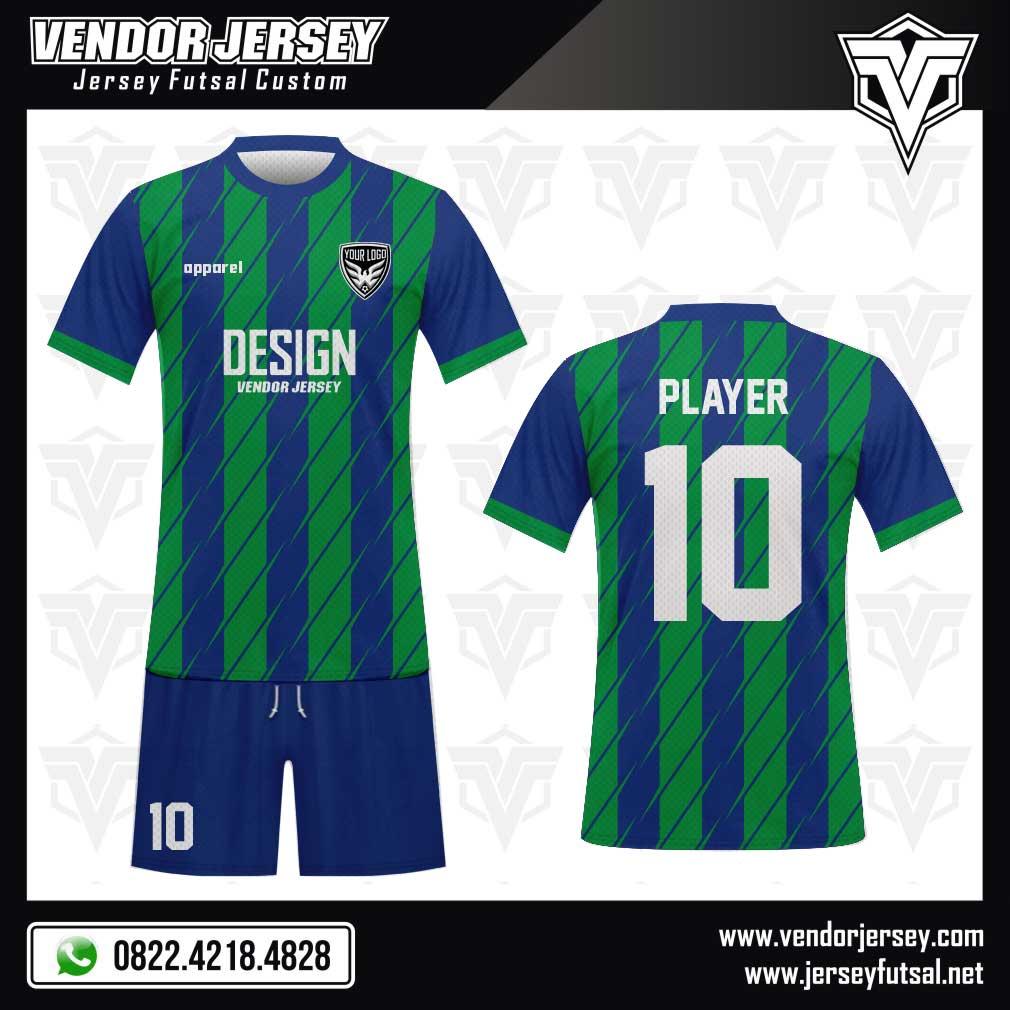 Desain Seragam Futsal Incision Line Terbaru hijau