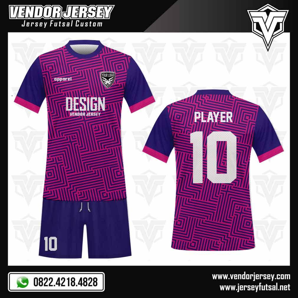 desain seragam futsal ungu biru