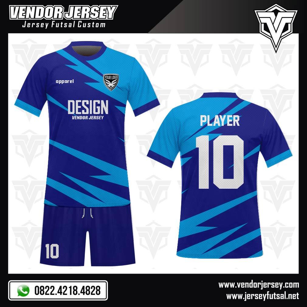 Desain Seragam Sepakbola Code Stritblu Si Biru yang Energik