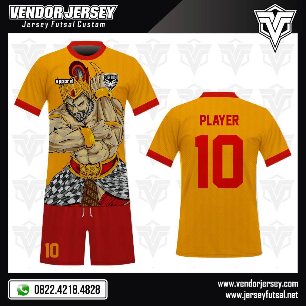 Desain Kaos Bola Futsal Code Bheem Gambar Wayang