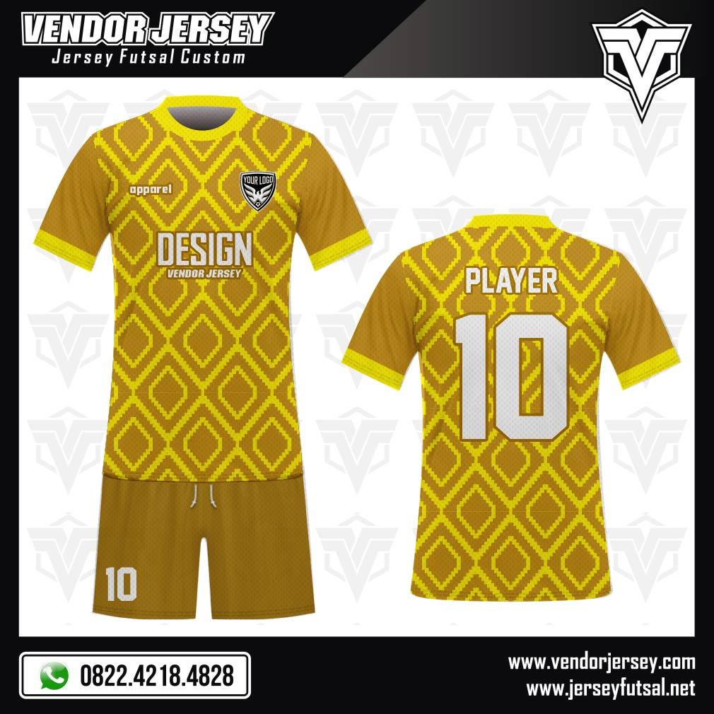 Desain Baju Sepakbola Code Yellogen Warna Kuning Asik