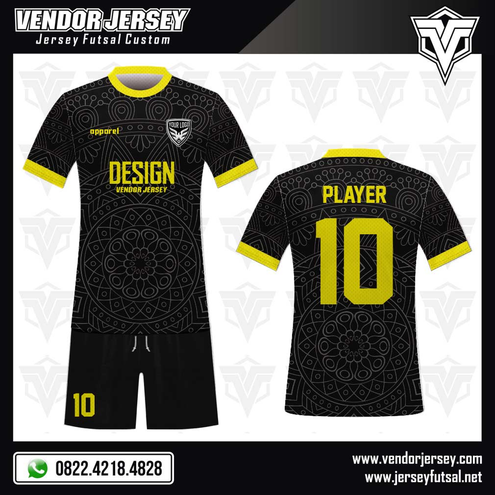 Desain Kaos Bola Futsal Code Blektix Hitam Eksotis